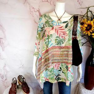 NWT! Macy's One World pretty layered kimono top